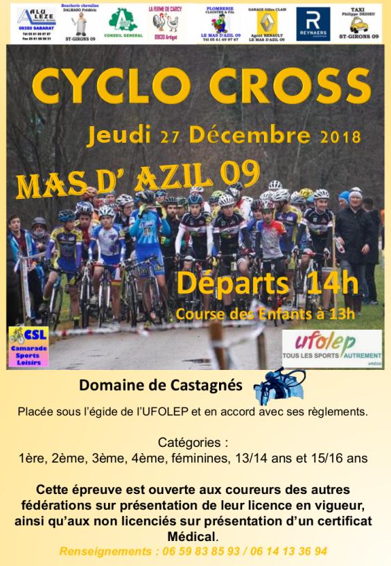 annonce cyclo Mas d'Azil